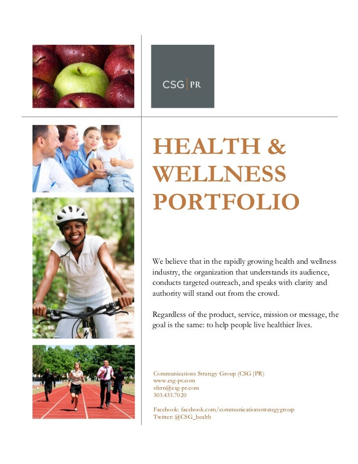 HEALTH &           WELLNESS               PORTFOLIO           We believe that in the rapidly gro...
