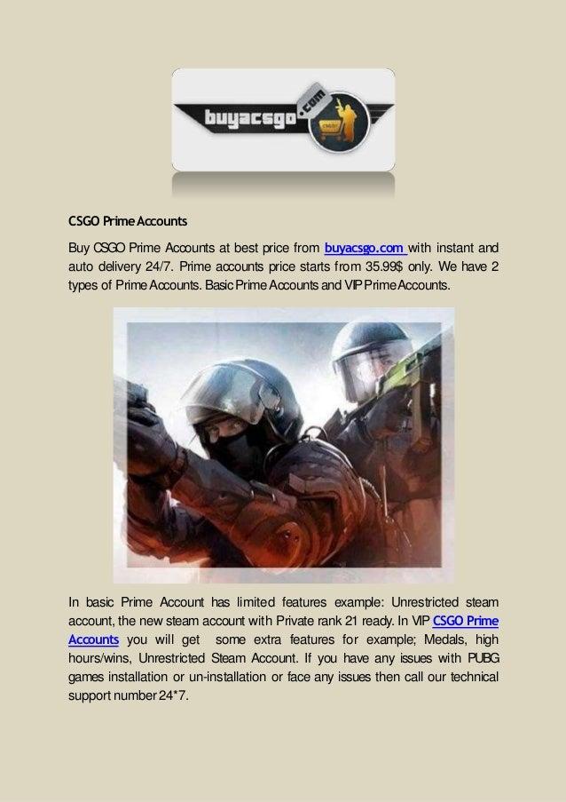 Buy CS:GO Prime Accounts