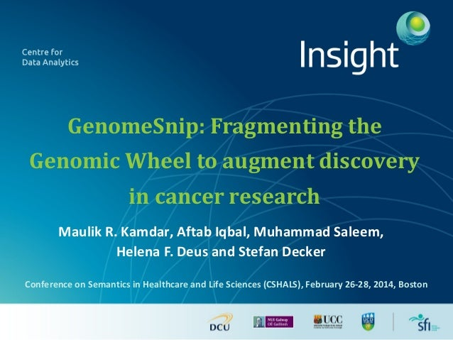 GenomeSnip: Fragmenting the Genomic Wheel to augment discovery in cancer research Maulik R. Kamdar, Aftab Iqbal, Muhammad ...