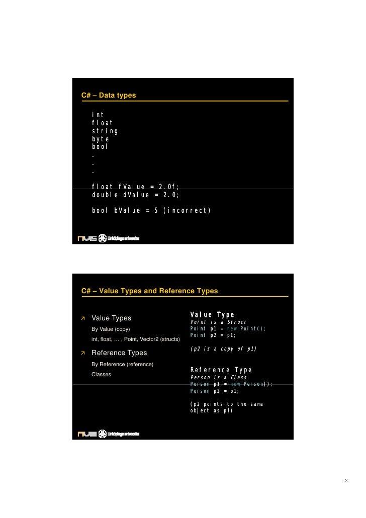 C# – Data types    int                                           Panel 2    float   string   byte   bool   .   .   .    fl...