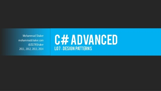 Design Patterns Interview Questions And Answers For Experienced C