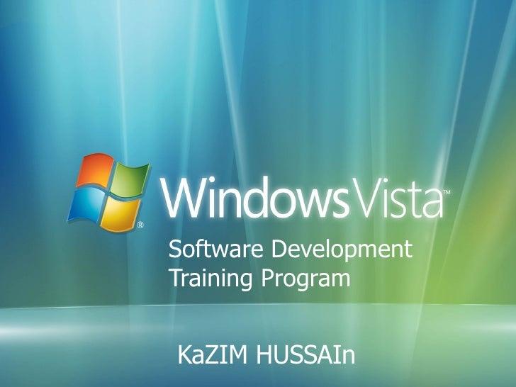 Software Development  Training Program KaZIM HUSSAIn