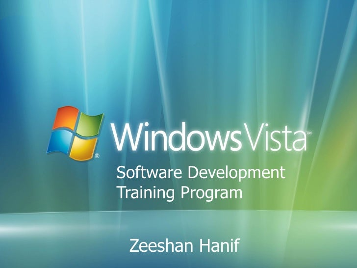 Software Development  Training Program Zeeshan Hanif