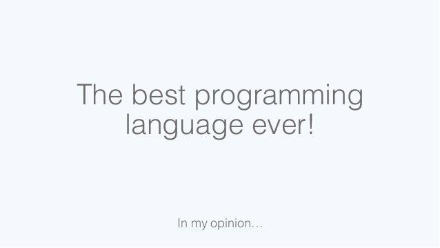 Desert Code Camp 2014: C#, the best programming language
