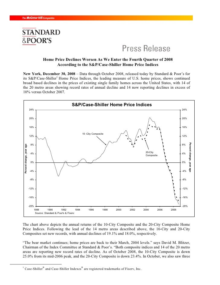 Home Price Declines Worsen As We Enter the Fourth Quarter of 2008                                                  Accordi...