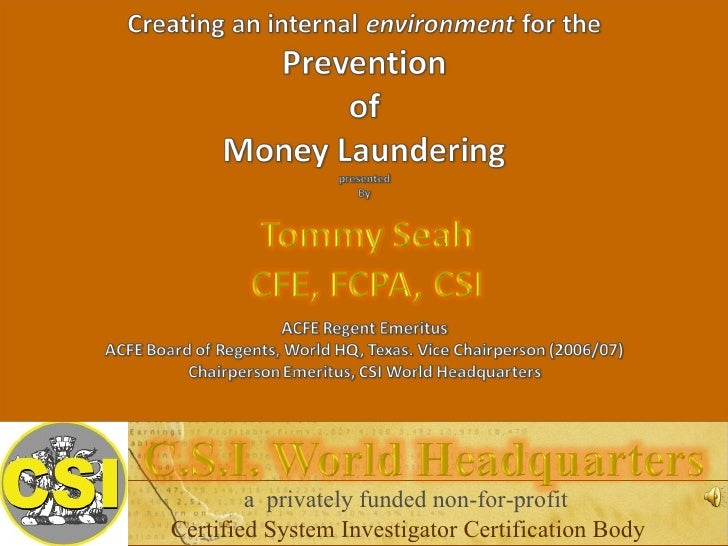 a  privately funded non-for-profit Certified System Investigator Certification Body