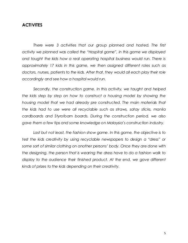 Service experience essay