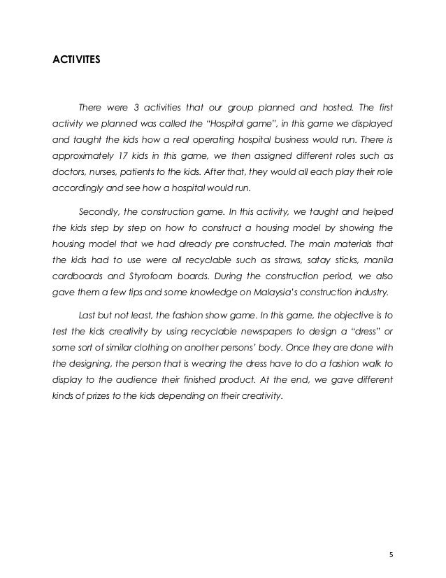 Community service essays