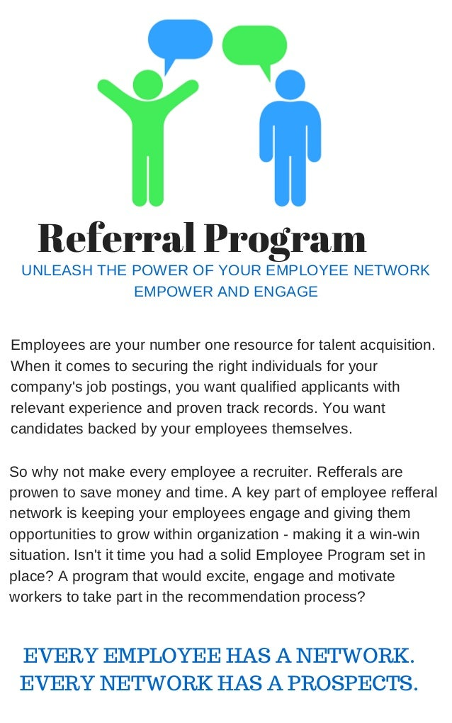 Referral program announcement email to employees template