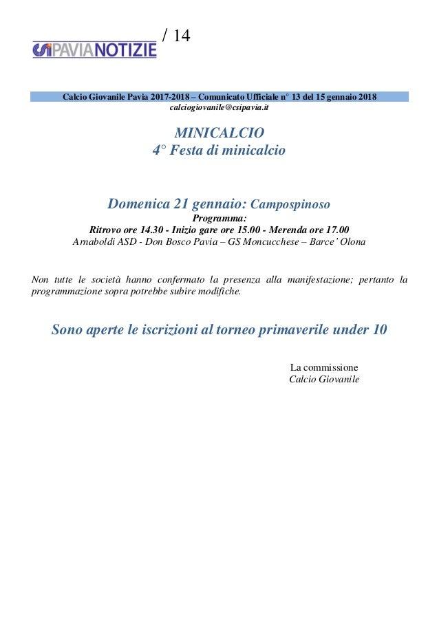 Csi Varese Calendario 2020.Csi Pavia Notizie N 2 Del 16 01 18