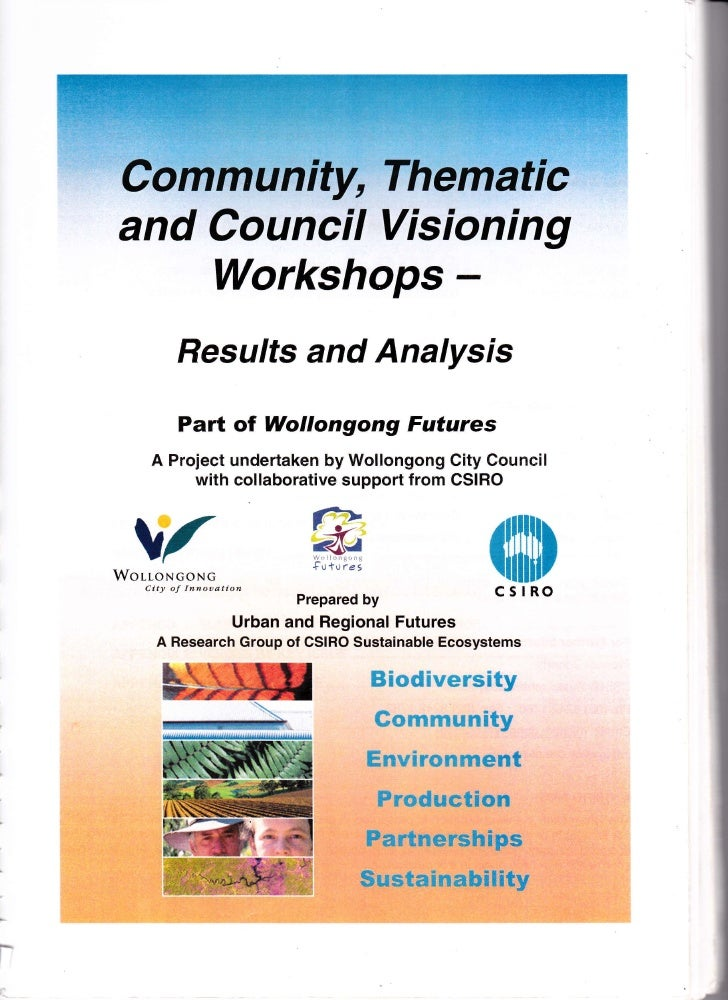 Community, Thematic    and Council Visioning        Workshops -                  Results and Analysis                 Part...