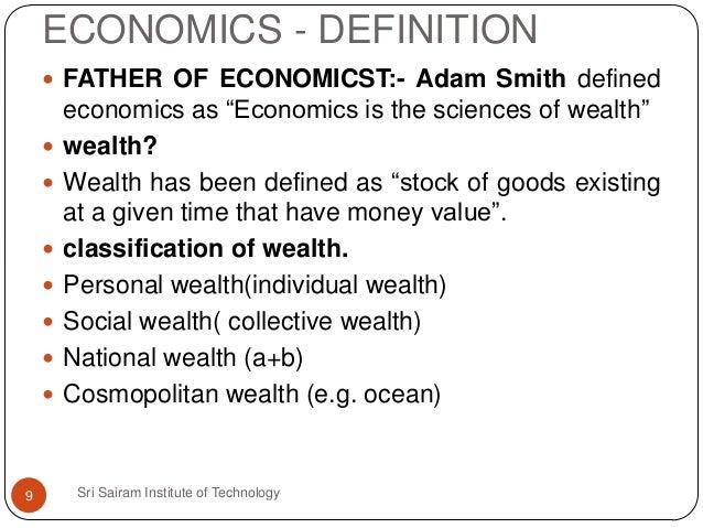 ECONOMICS   DEFINITION ...