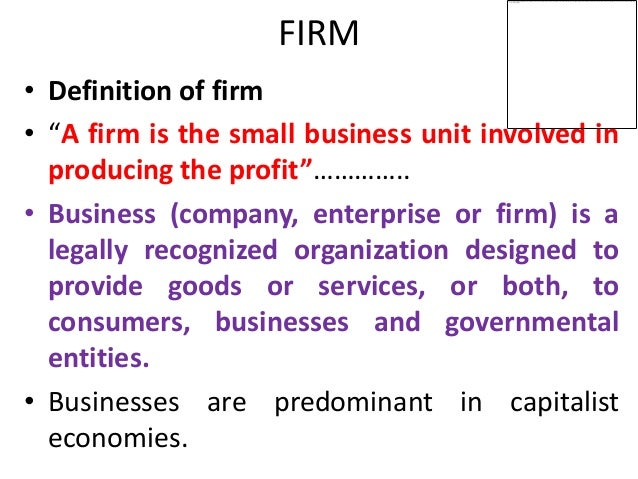 Firms engineering economics and financial accounting for Firm company