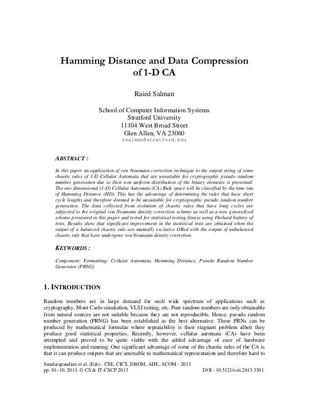 Sundarapandian et al. (Eds) : CSE, CICS, DBDM, AIFL, SCOM - 2013pp. 01–10, 2013. © CS & IT-CSCP 2013 DOI : 10.5121/csit.20...