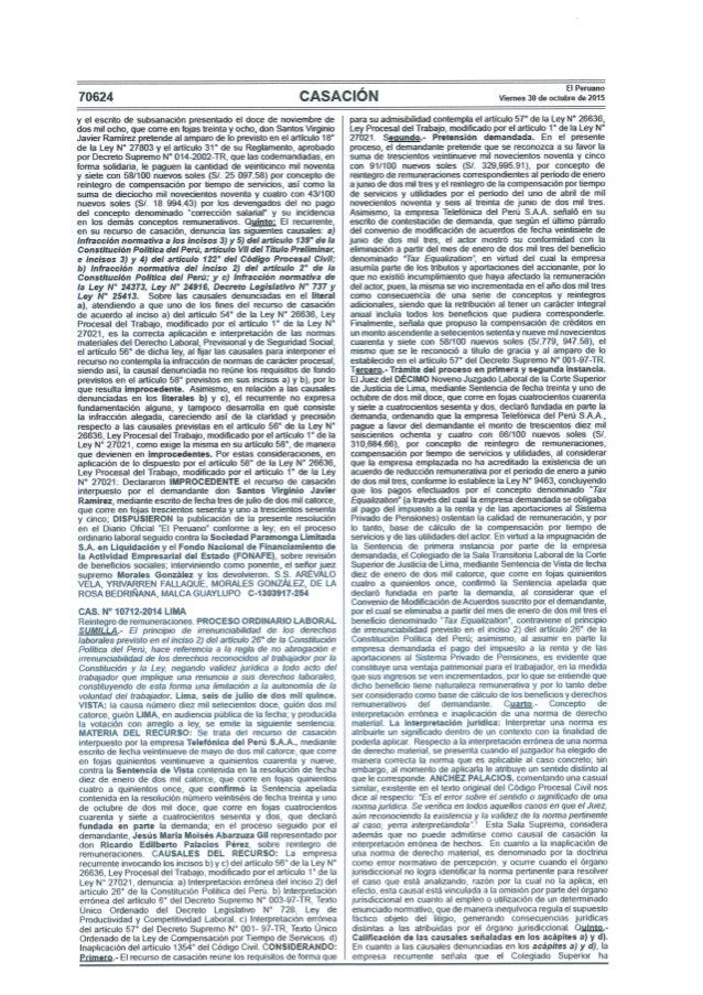 70624  CASACIÓN  El Peruano Viemes 30 de octubre de 2015     y el escrito de subsanación presentado el doce de noviembre d...