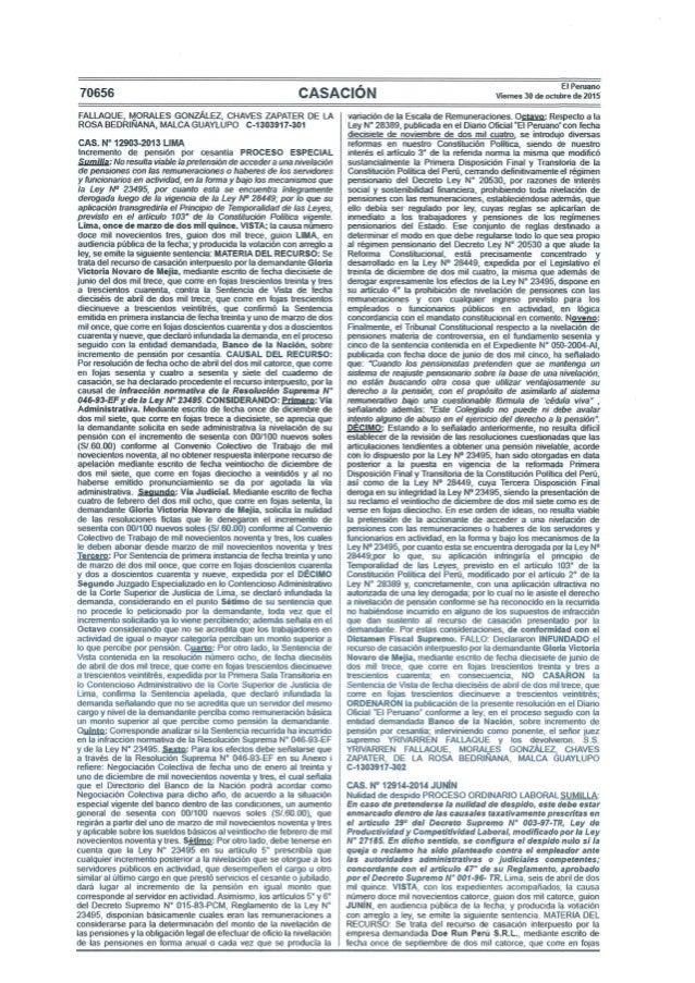 CSJ - Sentencia de Casación Laboral N° 12914-2014 Junín - La queja o denuncia contra el empleador debe realizarse ante la ...