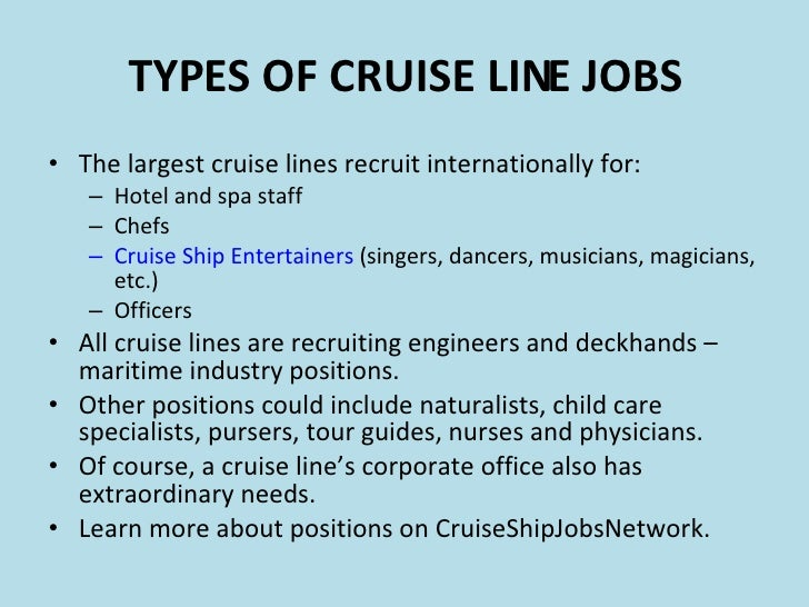 Cruise Ship Employment Introduction - Cruise ship recruitment agency