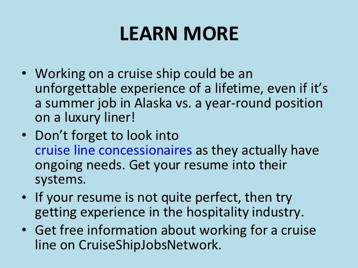 cruise ship employment introduction