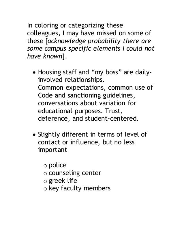 In coloring or categorizing these  colleagues, I may have missed on some of  these [acknowledge probability there are  som...