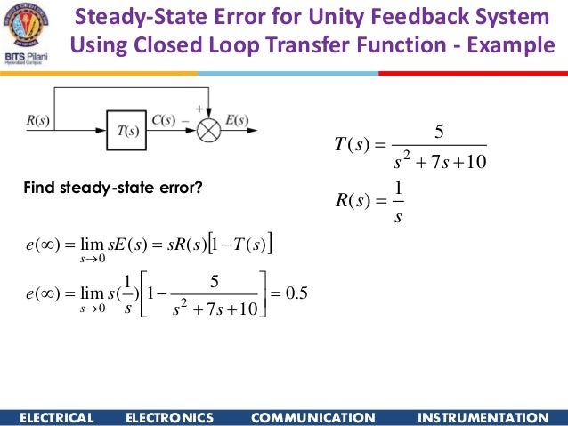 how to find steady state value of a transfer function