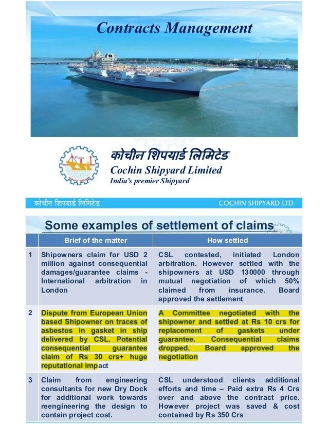 cochin shipyard asbestos problem