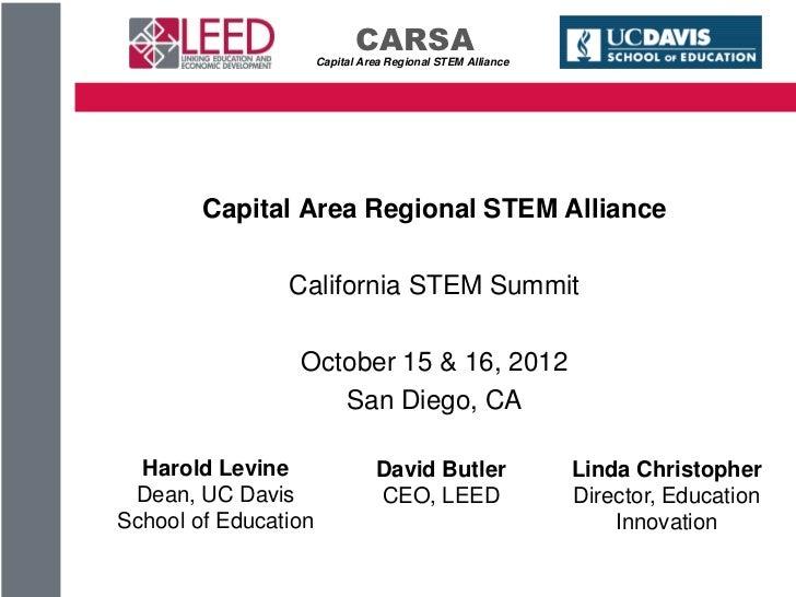 CARSA                      Capital Area Regional STEM Alliance        Capital Area Regional STEM Alliance                C...
