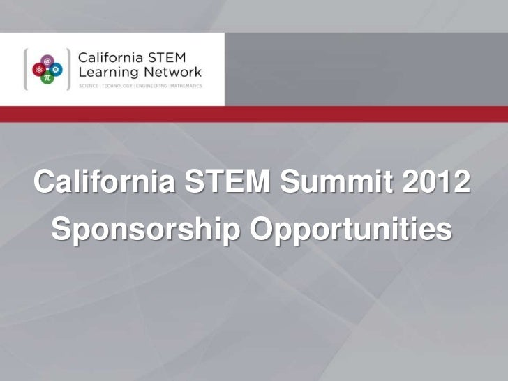California STEM Summit 2012 Sponsorship Opportunities