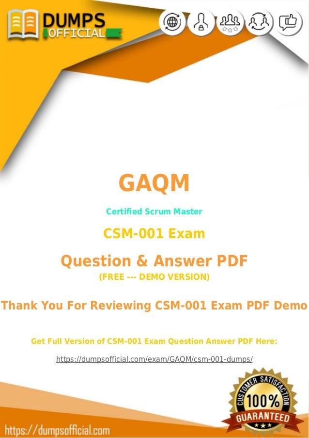 Authentic Csm 001 Exam Questions New Csm 001 Exam Dumps Pdf
