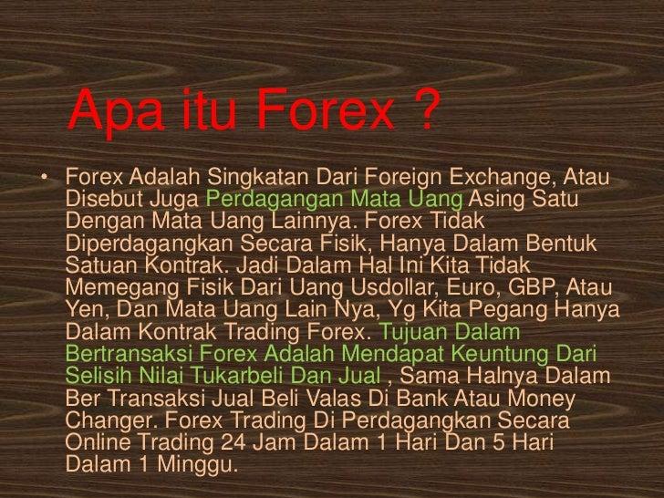 Resiko yang timbul dalam transaksi forex