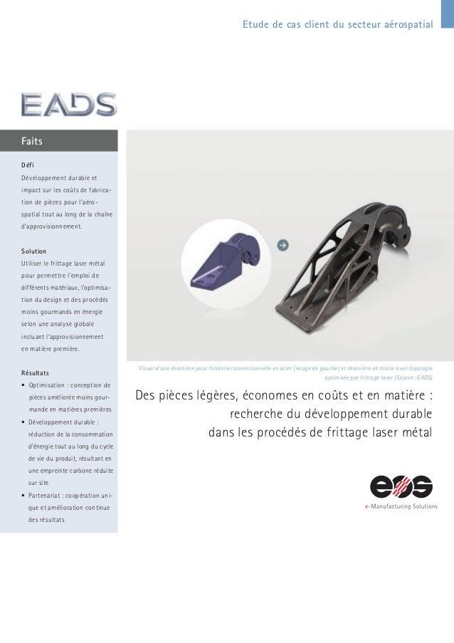 Etude de cas client du secteur aérospatial Faits Visuel d'une charnière pour fonderie conventionnelle en acier (image de g...