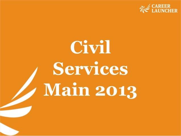 Civil Services Main 2013