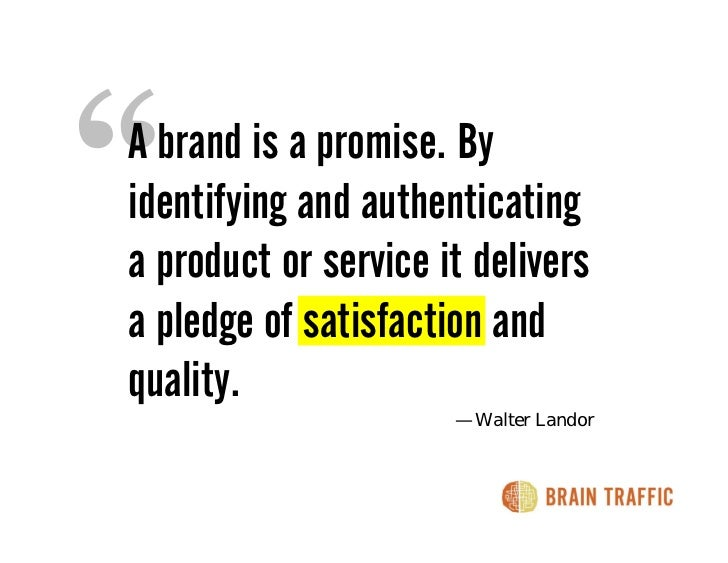 A brand is a promise. By identifying and authenticating a product or service it delivers a pledge of satisfaction and qual...