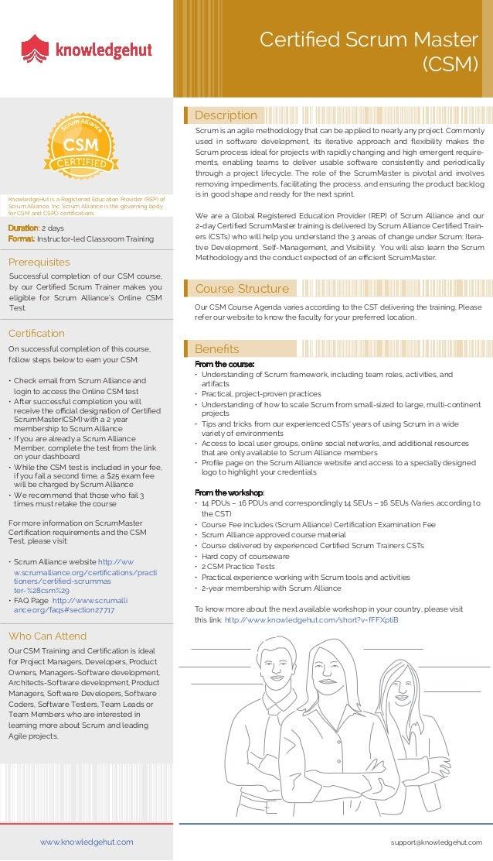 Csm Certification Brochure