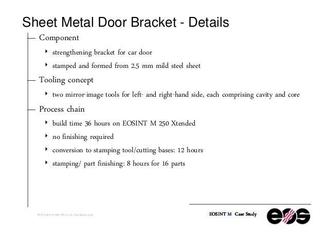 Sheet Metal Door ...  sc 1 st  SlideShare & Sheet Metal Stamping of Door Bracket for Ford Motor Company in Englan\u2026