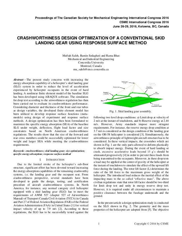 Basic Principles of Helicopter Crashworthiness