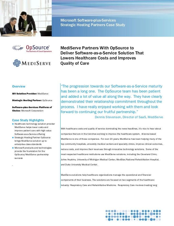 Microsoft Software-plus-Services                                            Strategic Hosting Partners Case Study         ...
