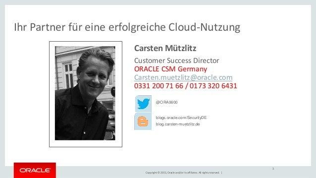 Einführung in das Customer Success Management von Oracle Deutschland Slide 2
