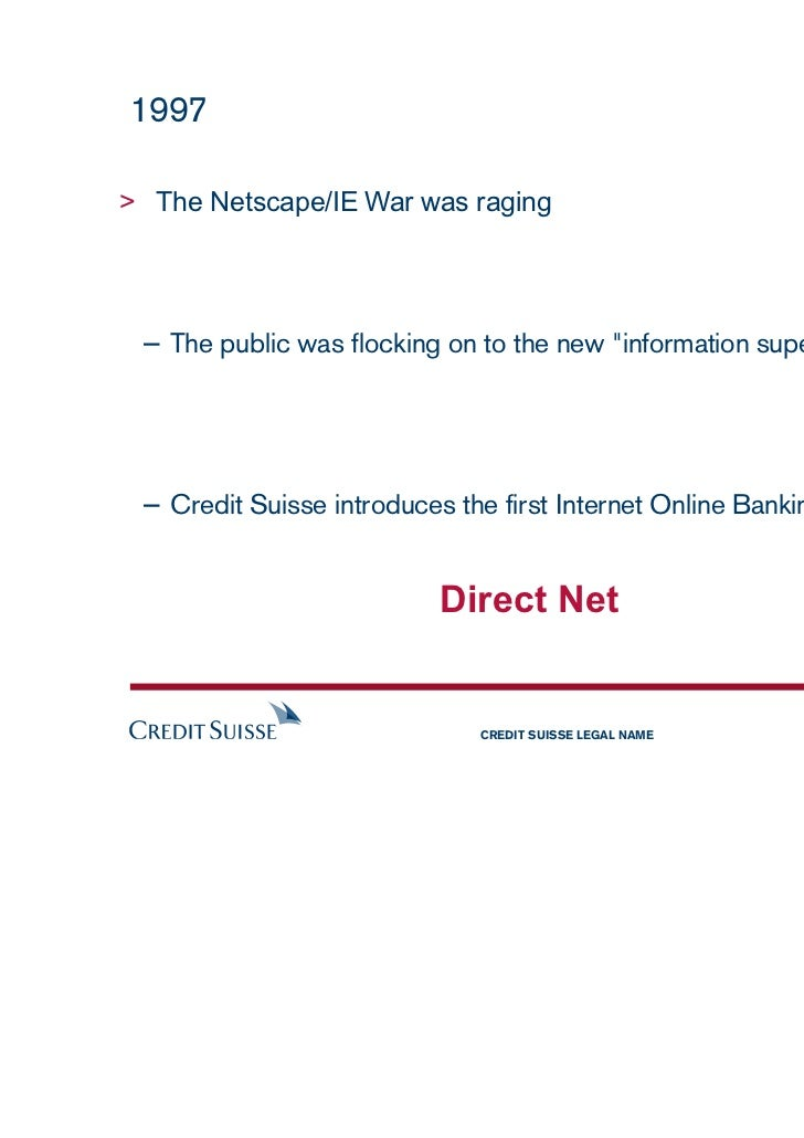 Credit suisse online direct net