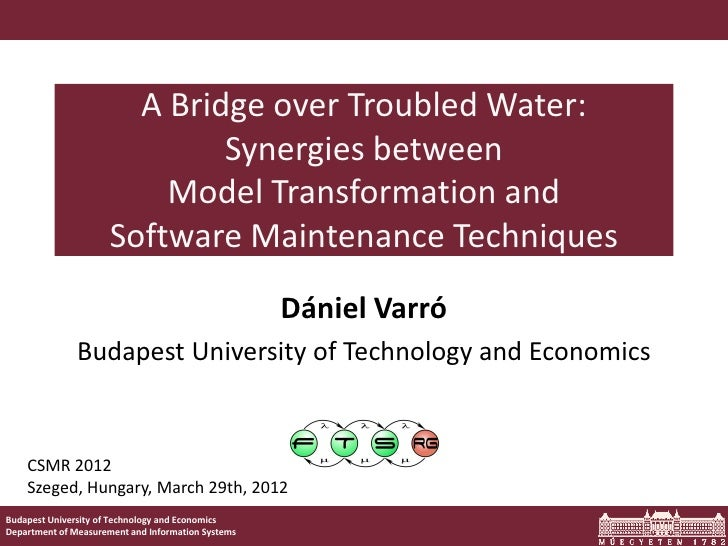 A Bridge over Troubled Water:                              Synergies between                          Model Transformation...