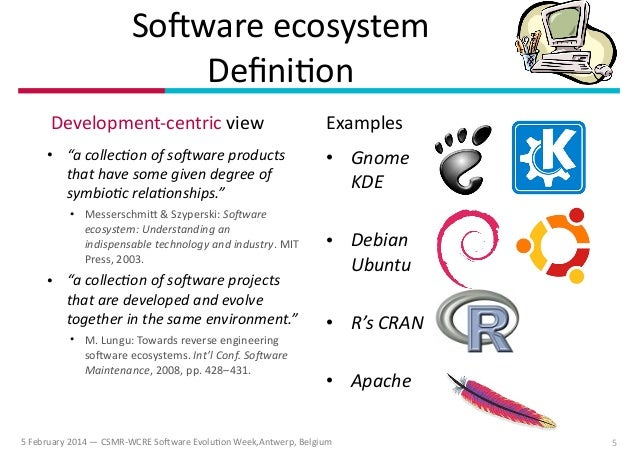 ECOS: Ecological Studies of Open Source Software Ecosystems (@ CSMR-W…