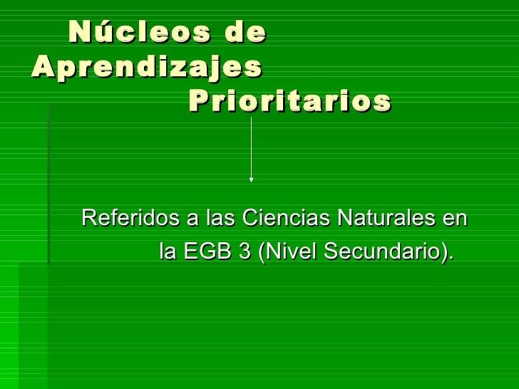 cs naturales nap power On nucleos de aprendizajes prioritarios nivel inicial