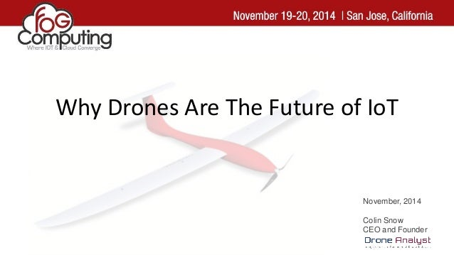 November, 2014 Colin Snow CEO and Founder Why Drones Are The Future of IoT