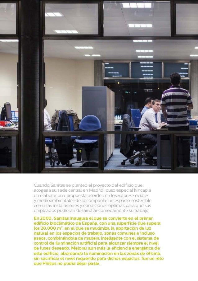 Iluminaci n de las oficinas de sanitas for Sanitas madrid oficinas