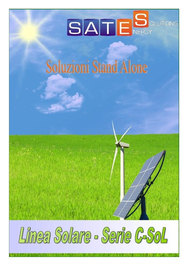 La linea Solare di Sates Energy Solutions offre una gamma completa di  accumulatori specifici per l ' utilizzo negli appli...