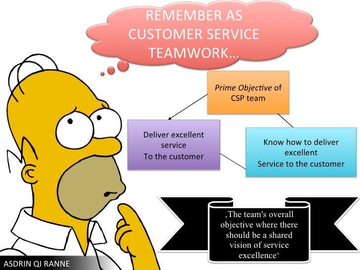 Dissertation on teamwork and customer service