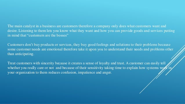conclusion of customer service The overall conclusion is that most providers want to deliver a good service and  that in the main this is achieved however, when customer service goes wrong it .