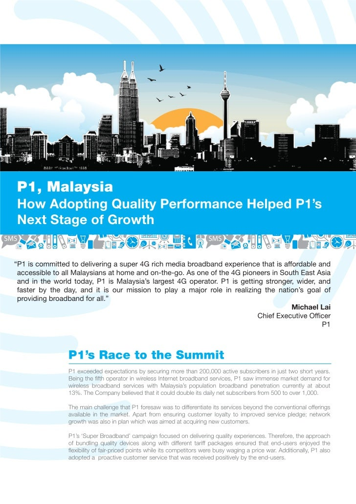 Case Study - P1 : How Adopting Quality Performance Helped P1's Next Stage of Growth