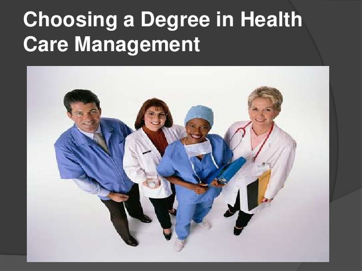 Choosing a Degree in HealthCare Management