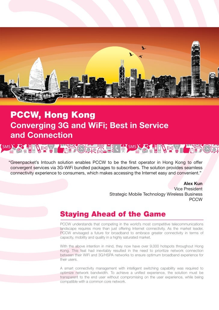 Case Study - PCCW : Converging 3G and Wi-Fi, Best in Service and Connection