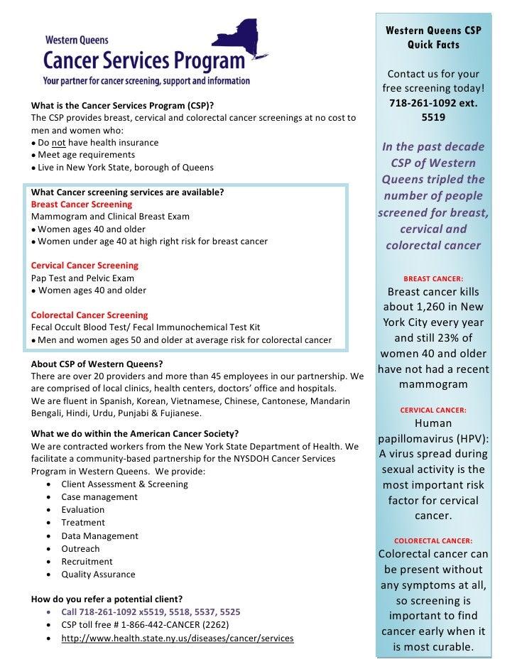 Csp Fact Sheet